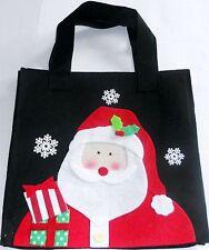 "Medium Collectable Christmas Sack Santa  10"" x 10"" x 3"""