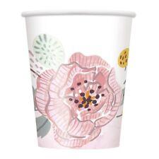 Papel Pintado Floral Boda Fiesta 270 Ml | Bebida Tazas | Novia Sr. la señora Flores