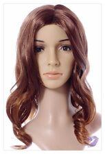 Amazing Long Choc Brown Honey Blonde Lady Wig! UK