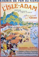 Affiche chemin de fer Nord - L'Isle Adam 2