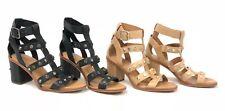 Ugg Australia Macayla Studded Bling Latte Black Gladiator Sandals 1019999 Heels