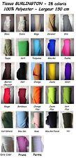 Tissu evenementiel BURLINGTON au mètre infroissable 28 coloris largeur 150 cm