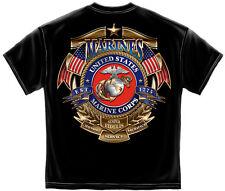 Marine Corps, USMC T-Shirt Usmc Badge Of Honor Black