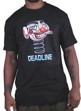 Deadline Mens Black Smoking Clown Bobble Head T-Shirt