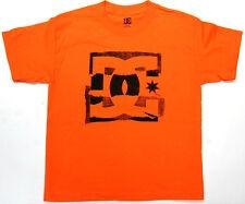 DC Boys T Shirt DC Skate 100% Cotton Orange DC Shoes Brand  DC