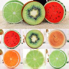 3d FRUTA Suave Redondo Almohada peluche cojín Limón Naranja SANDÍA