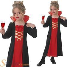 Chicas gótico Vampiresa Vampiro Dracula Halloween Niño Fancy Dress Costume