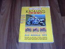 MOTORRAD KATALOG  1992 -- von APRILIA bis YAMAHA / DATEN+PREISE 50/80er Gespanne