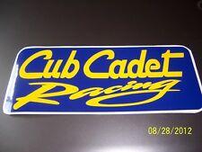 "1- 3.5"" X 8"" Cub Cadet Racing (New Blue and Gold) Vinyl Sticker"