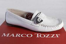 Marco Tozzi Zapatillas mujer bailarina cuero auténtico, blanco