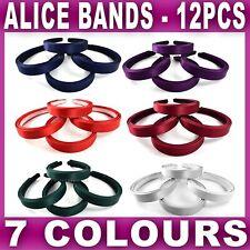 Girls' Accessories Cheap Sale Fabric Satin Feel Aliceband Headband Girls Women 2cm Wide School Hair Band