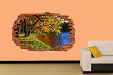 Automne forêt lac autocollant mural chambre décoration autocollant murale classe a