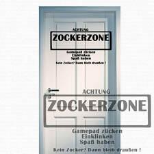 Wandtattoo Zockerzone Zocker Zone Gamerzone Gamer Spielzone Spieler Top +211+
