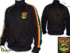 Rasta Reggae Felpa Giacca Logo Jah Star Ricamato