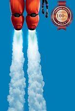 NEW BIG HERO 6 ROBOT BAYMAX FLYING DISNEY MOVIE WALL ART PRINT - PREMIUM POSTER
