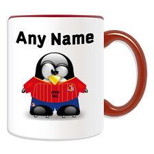 Cadeau personnalisé espagne national mug tirelire tasse penguin football fc player