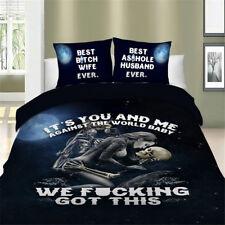 Powerful Skull Bedding Set Quilt Duvet Cover Full Queen King Twin Pillowcase New