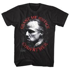 Godfather Don Vito Corleone Grants Justice Men's T Shirt Brando Mafia Boss Movie