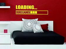 Carga Sueños Juegos Ps4 Xbox Chicos Chicas Dormitorio calcomanías de pared Calcomanías de Vinilo