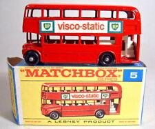 "MATCHBOX RW 05d London Bus ""VISCO-STATIC"" in ""F"" BOX"