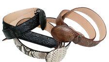 Genuine Python Leather Belt Hand Craft Quality Style B- Python