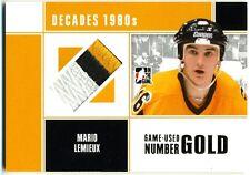 2011 ITG Decades 1980's MARIO LEMIEUX GU Patch Gold 1/1