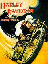 Harley-Davidson - Goodyear Tires Racing Promotional Advertising Poster