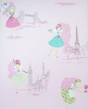 PINK FAIRY STICKY BACK PLASTIC WALLPAPER  FABLON GIRLS PRINCESS WALL MURAL PVC