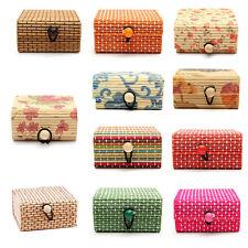 Wholesale Bamboo Wooden Jewelry Organizer Storage Box Strap Craft Case EP