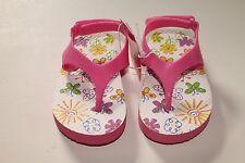 NWT Toddler Girls 6 7 8 9 Pink Jelly Flip Flops Summer Sandals Sandal Shoes