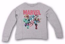 Marvel Comics Avengers Retro Vintage Gray Long Sleeve Tee Graphic T-shirt XS-L
