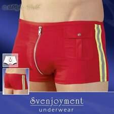 S-Sexy Fireman Micro Fibre Pants Avec Réflecteur Bandes Messieurs Lingerie Rouge-Jaune