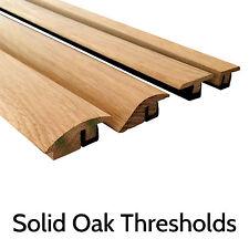 Solid Oak Threshold Door Bar Trims Strip for Wood Flooring Ramp, T bars, Scotia