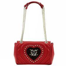 Love Moschino Women's Studded Heart Flap Over Satchel Handbag