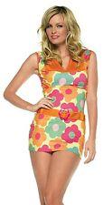 Retro Daisy Print 60's Hippie Costume, Leg Avenue 83329, 2 Piece Size XS S/M M/L