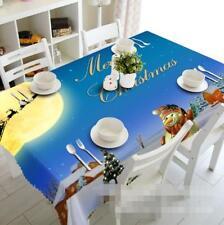 3D Xmas Snowman 5 Tablecloth Table Cover Cloth Birthday Party Event AJ WALLPAPER