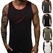 Men's Slim Muscle Tank Top Casual Sleeveless Bodybuilding Sport Gym Vest T-Shirt