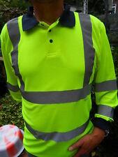 Hi Vis Long Sleeve Yellow Polo Shirt