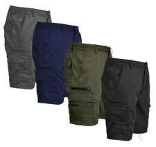 Mens Plain Casual Cotton Summer Elasticated Walking Cargo Combat Shorts M-6XL