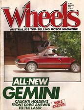 Wheels Mar 83 Prelude Mazda 323 SS W201 190E Corvette W201 Gemini