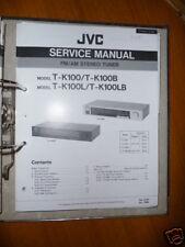 Manual de servicio para JVC t-k100 sintonizador, original