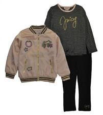 Juicy Couture Girls Rose Jacket 3pc Set Size 2T 3T 4T 4 5 6 6X