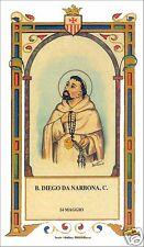 SANTINO HOLY CARD BEATO DIEGO DA NARBONA MERCEDARIO
