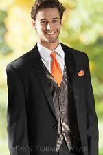 NEW Mens Mossy Oak Camo Tuxedo Vest Hunters Orange Tie Hankie Alpine Camouflage