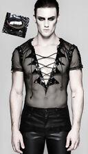 T-shirt gothique punk burlesque fétiche résille vinyle laçage PunkRave Homme
