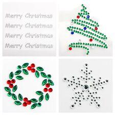 Christmas Self Adhesive Diamante Gem Stickers Card Making Craft Embellishments