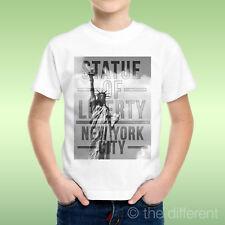T-Shirt Bambino Ragazzo Statua Della Liberta New York Idea Regalo