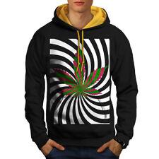 Weed 420 Pot Rasta Men Contrast Hoodie NEW | Wellcoda