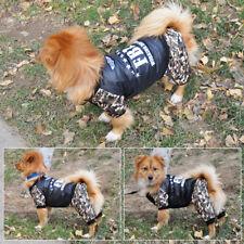 Pet Puppy Dog Winter Camouflage Cotton FBI Design Coat Jacket Costume Outwear