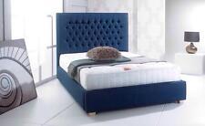 Chesterfield Fabric Upholstered Bed Frame Velvet, Chenille Bedstead 3ft, 4'6,5ft